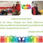 Collecte de Noël Pastorale Externat Chavagnes Décembre 2019